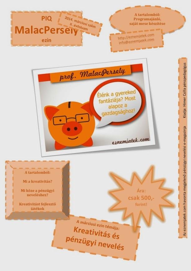 A PIQ MalacPersely Ezin utolsó számának témája: a kreatvititás és a pénzügyi nevelés